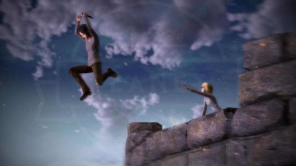 進撃の巨人2 PC アニメ『進撃の巨人Season2』のストーリーを追体験できるクリスタやユミルのスクリーンショット