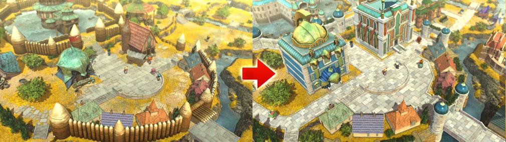 二ノ国2 レヴァナントキングダム PC 国を発展させることで街並みが変化するスクリーンショット