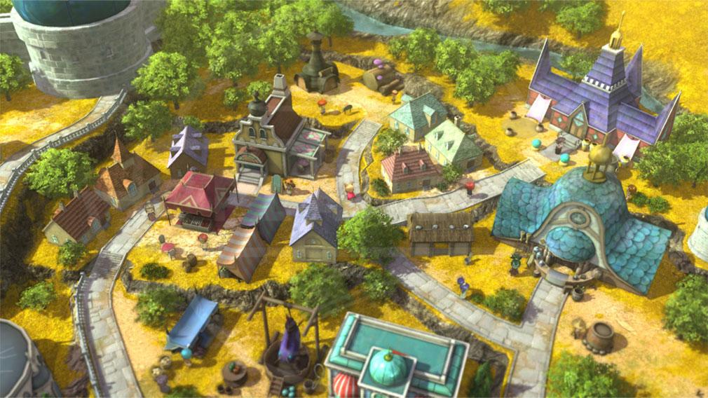 二ノ国2 レヴァナントキングダム PC 『キングダムモード』でもジオラマのような街並みのスクリーンショット