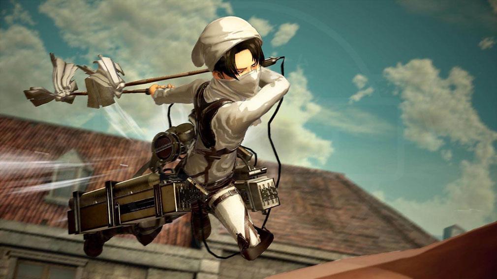 進撃の巨人2 PC アバターを変更してプレイしている『リヴァイ』のバトルスクリーンショット