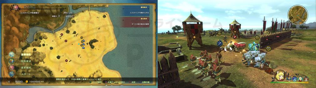 二ノ国2 レヴァナントキングダム PC 進軍マップ、バトルスクリーンショット