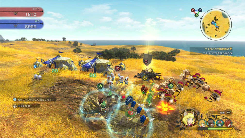 二ノ国2 レヴァナントキングダム PC 戦略的に立ち回る『進軍バトル』スクリーンショット