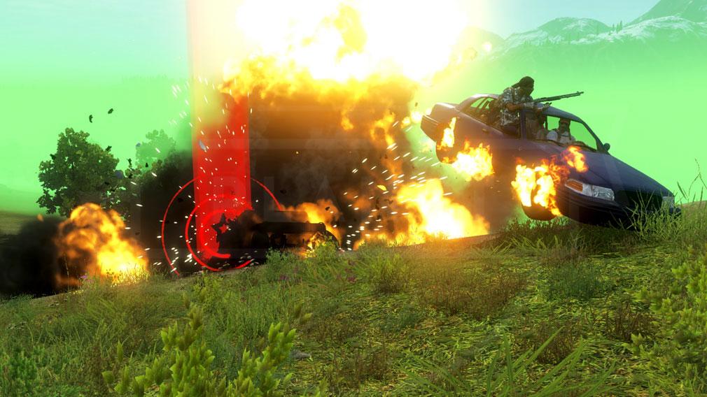 H1Z1 車両爆発スクリーンショット