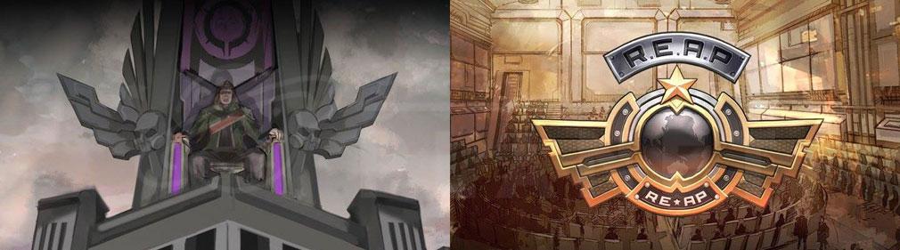 女神にキスを!Goddess Kiss(メガキス) PC 洗脳した人々を集めた帝国『プレセン』、対帝国組織『R.E.A.P.(リーフ)』物語イメージ
