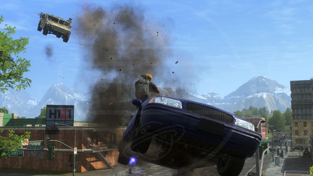 H1Z1 空中を駆け巡るカーアクション戦闘スクリーンショット