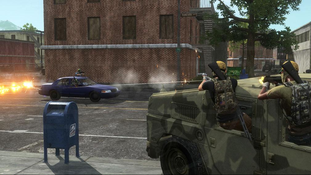 H1Z1 車両銃撃バトルスクリーンショット