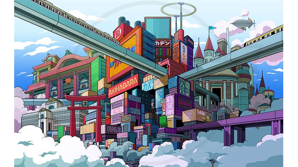 エンゲージプリンセス 『電気街エリア』イメージボード