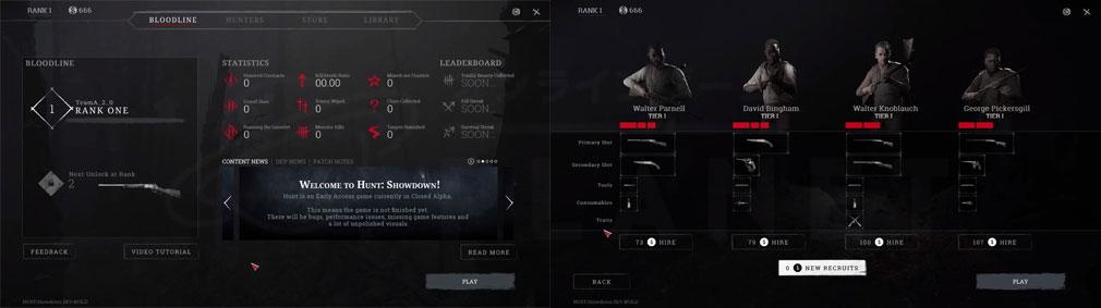 Hunt Showdown(ハントショーダウン) 武器選択、バウンティハンター雇用スクリーンショット