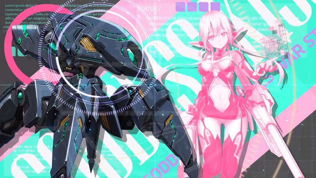 女神にキスを!Goddess Kiss(メガキス) PC キャラクター『Q』と搭乗ロボットイメージ
