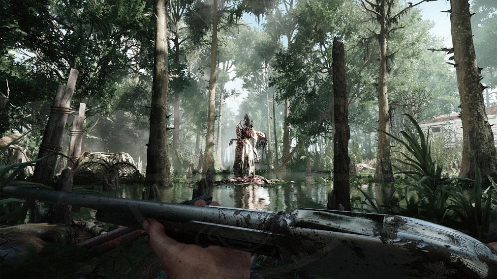 Hunt Showdown(ハントショーダウン) 昼の湿地帯にいる荒々しいリアルな悪魔のスクリーンショット