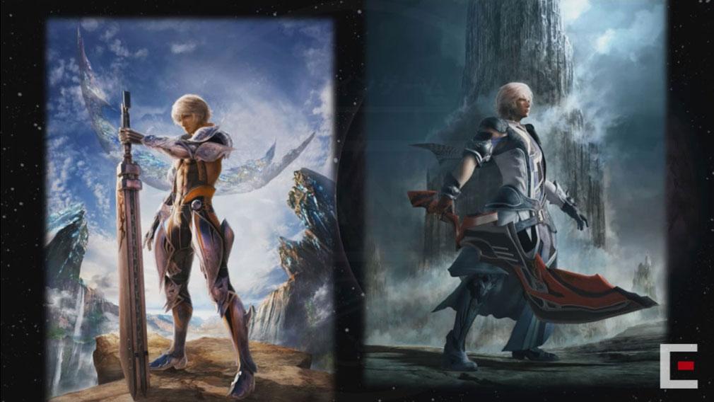 メビウスFF 破滅の戦士 PC(メビウス2) 前作と本作のキービジュアルイメージ