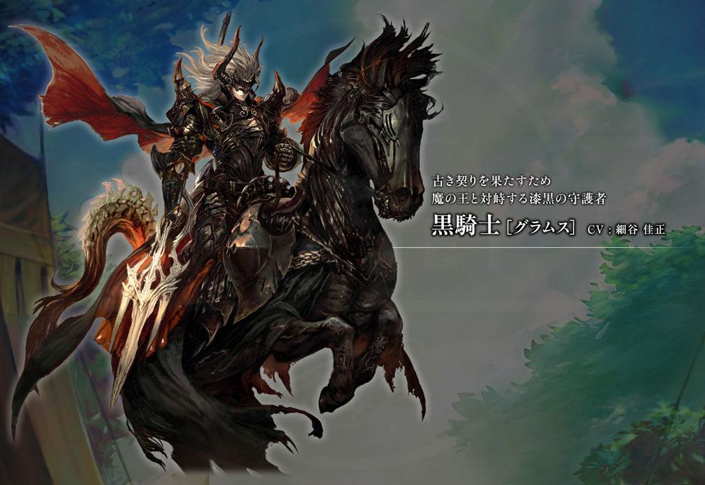 黒騎士と白の魔王 PC メインキャラクターイメージ黒騎士『グラムス』CV:細谷佳正