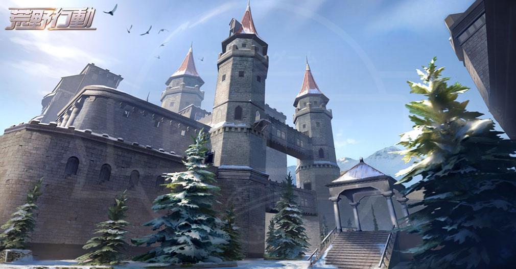 荒野行動 Knives Out (ナイフアウト) PC MAP『雪山の古城』イメージ