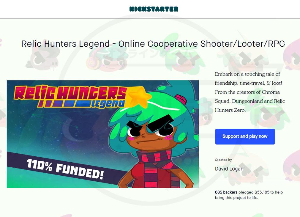 クラウドファンディングサービス『Kickstarter(キックスターター)』の「Relic Hunters Legend (レリック ハンター レジェンド) PC」プロジェクトスクリーンショット