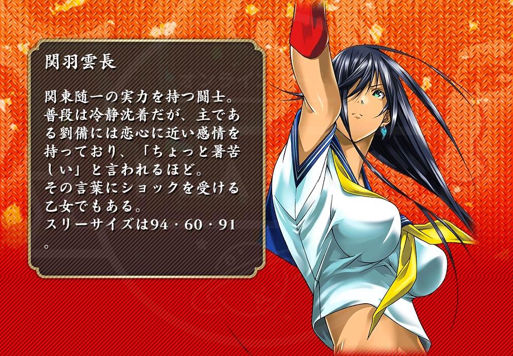 一騎当千 Straight Striker PC キャラクター『関羽雲長』イメージ