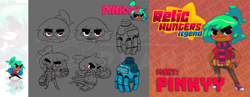 Relic Hunters Legend (レリック ハンター レジェンド) PC ピンキーデザイン、ピンキーアートワークイメージ