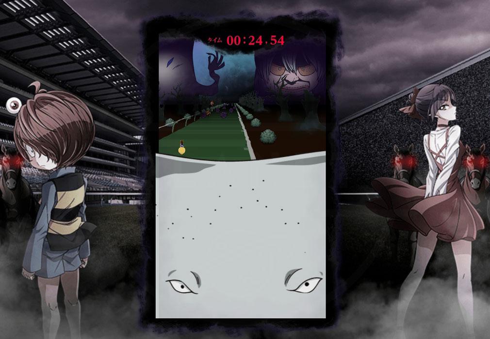 ゲゲゲのケイバ PC 『ゲゲゲの大競走』お馴染みの鬼太郎ファミリーの妨害スクリーンショット