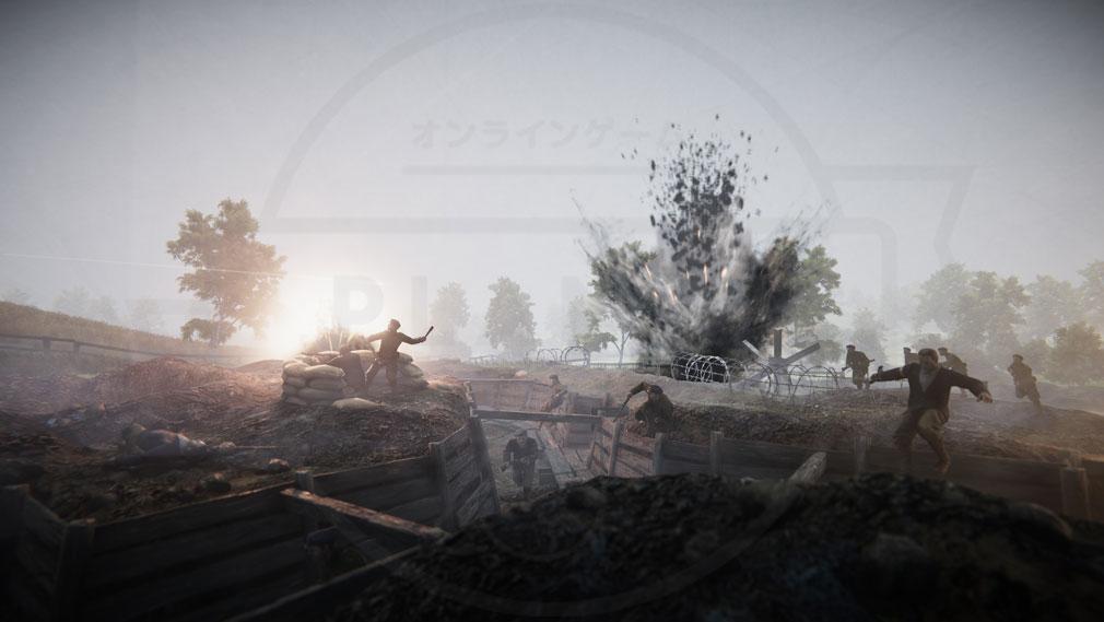 Iron Harvest PC 人目線のバトルスクリーンショット