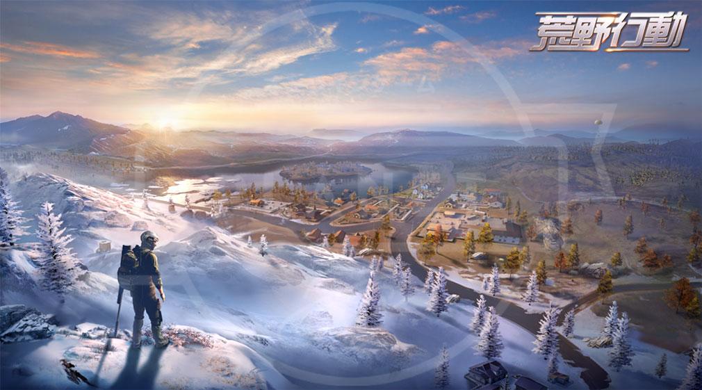 荒野行動 Knives Out (ナイフアウト) PC 雪山地域MAPイメージ