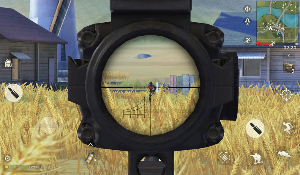 荒野行動 Knives Out (ナイフアウト) PC FPS視点の狙撃スクリーンショット