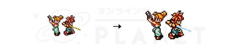 クロノトリガー PC キャラクターのドット絵グラフィックスリニューアルイメージ