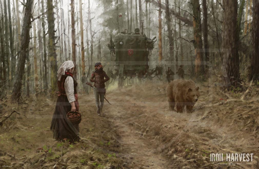 Iron Harvest PC ポラニア共和国アンナとペットの熊ヴォイテクのイメージ