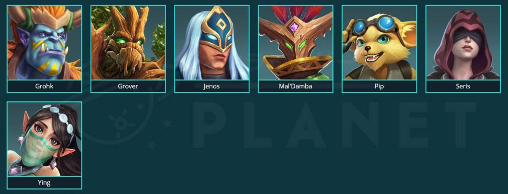Paladins(パラディンズ) Champions of the Realm PC 『SUPPORT(サポート)』のチャンピオンキャラクター一覧イメージ