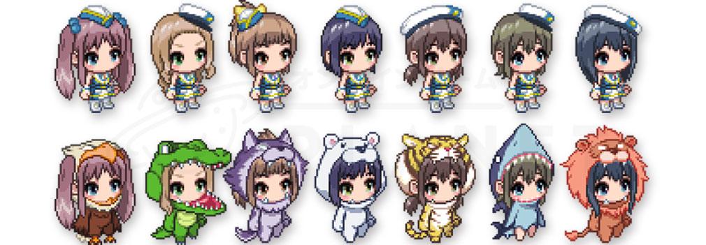 Wake Up Girls!新星の天使(WUG天) PC SD(スーパーデフォルメ)化したドット絵キャラクター
