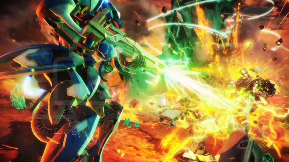 ボーダーブレイクPS4版 迫力のオンラインチームバトル対戦イメージ