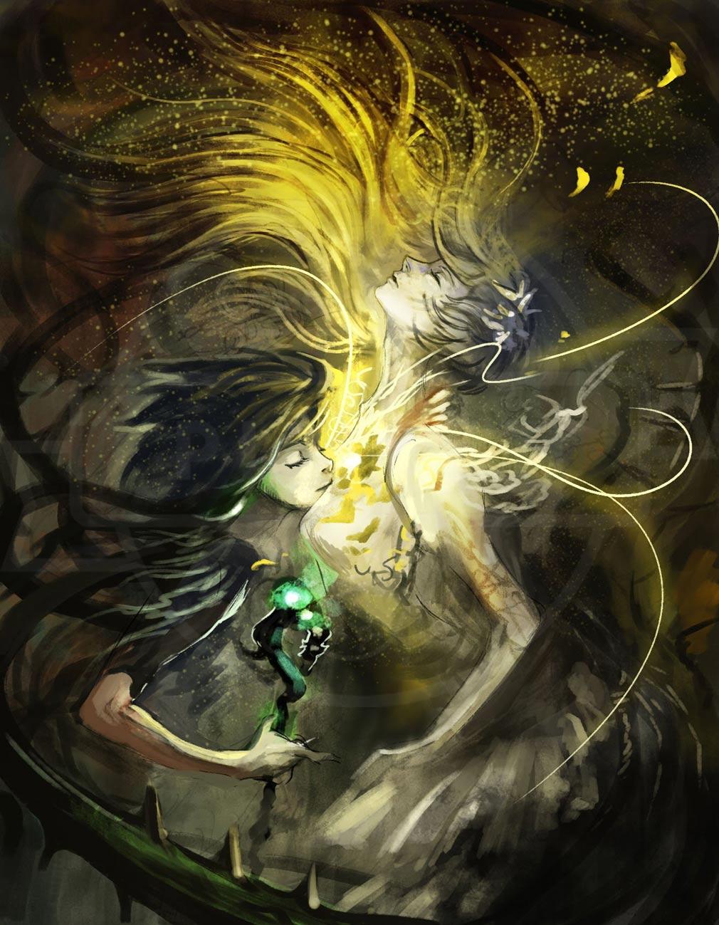 十三月のふたり姫 PC 物語アート『魔女と姫』イメージ