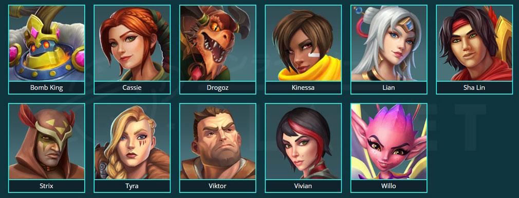 Paladins(パラディンズ) Champions of the Realm PC 『DAMEGE(ダメージ)』のチャンピオンキャラクター一覧イメージ