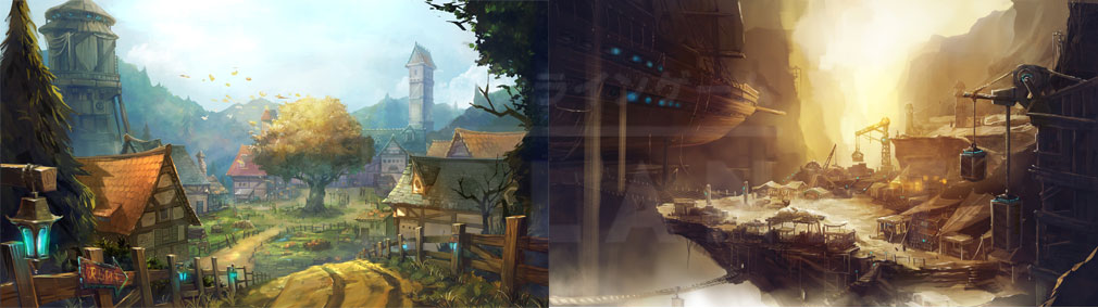 KRITIKA Revolution(クリティカR) 山岳都市レント、マイル廃鉱闇市場イメージ