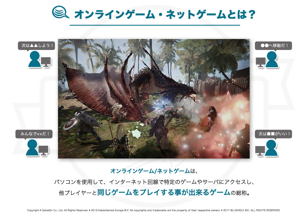 オンラインゲーム・ネットゲームについての紹介イメージ