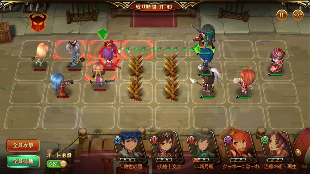 三国ロマンス 乱世を終える少女RPG PC リアルタイムシミュレーションバトルスクリーンショット