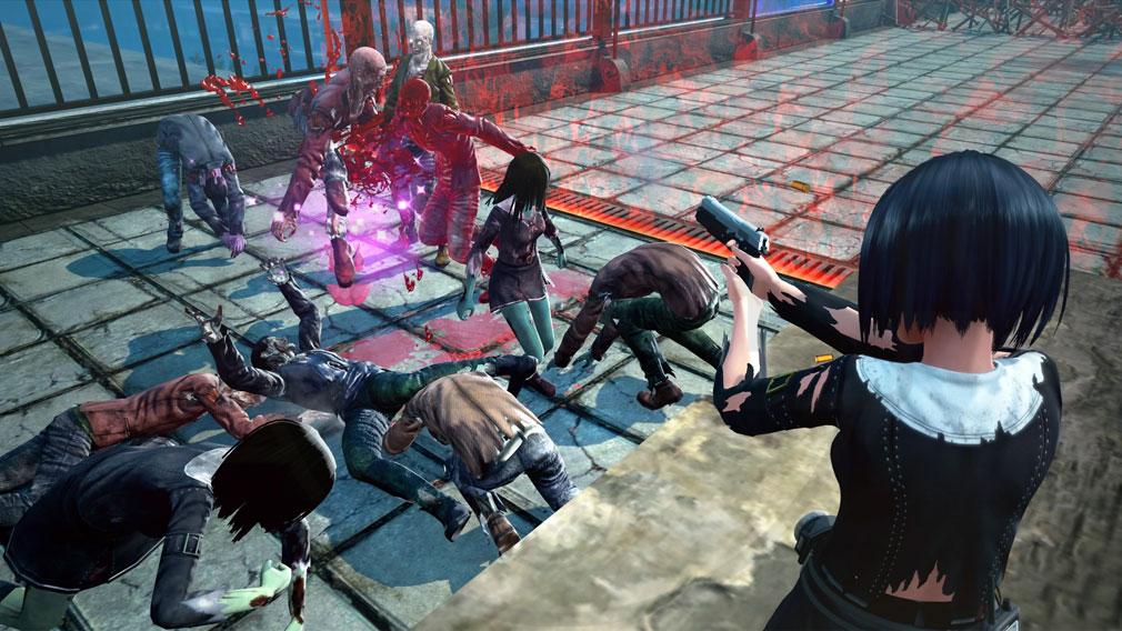 スクールガールゾンビハンター (SG/ZH School Girl/Zombie Hunter) PC 衣服ビリビリで戦うスクリーンショット