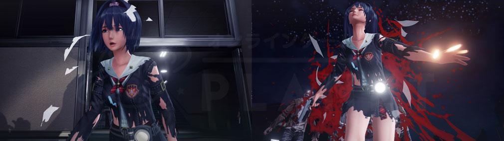 スクールガールゾンビハンター (SG/ZH School Girl/Zombie Hunter) PC ゾンビの攻撃で衣服が破壊されるスクリーンショット