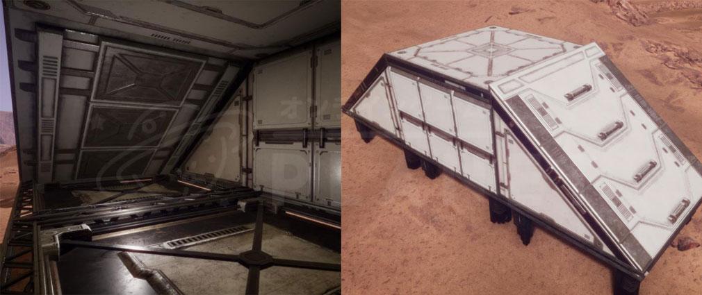 Memories of Mars(メモリースオブマーズ) PC 部品三角形の傾斜、四角い傾斜、三角形の壁の部分を組み合わせた事例