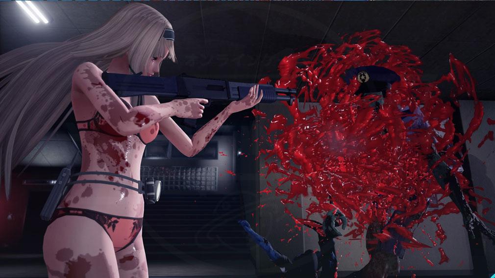スクールガールゾンビハンター (SG/ZH School Girl/Zombie Hunter) PC 下着姿で戦う金崎レイのスクリーンショット