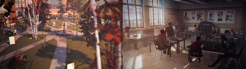 ライフ イズ ストレンジ(Life is Strange) PC ブラックウェル高校の敷地内エリア、教室スクリーンショット
