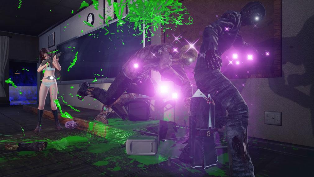 スクールガールゾンビハンター (SG/ZH School Girl/Zombie Hunter) PC 群がるゾンビを集中砲火するスクリーンショット