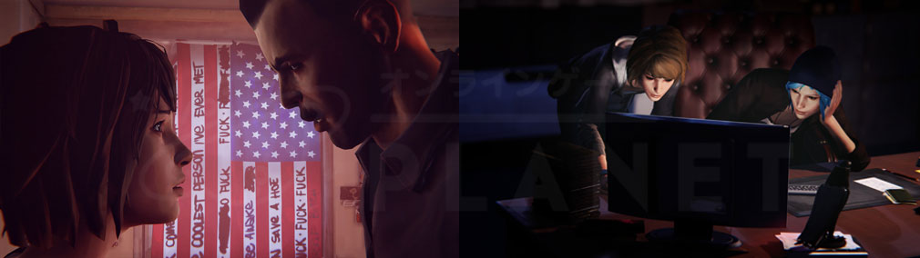ライフ イズ ストレンジ(Life is Strange) PC 『マックス』と『クロエ』で失踪事件を調べ始めるスクリーンショット