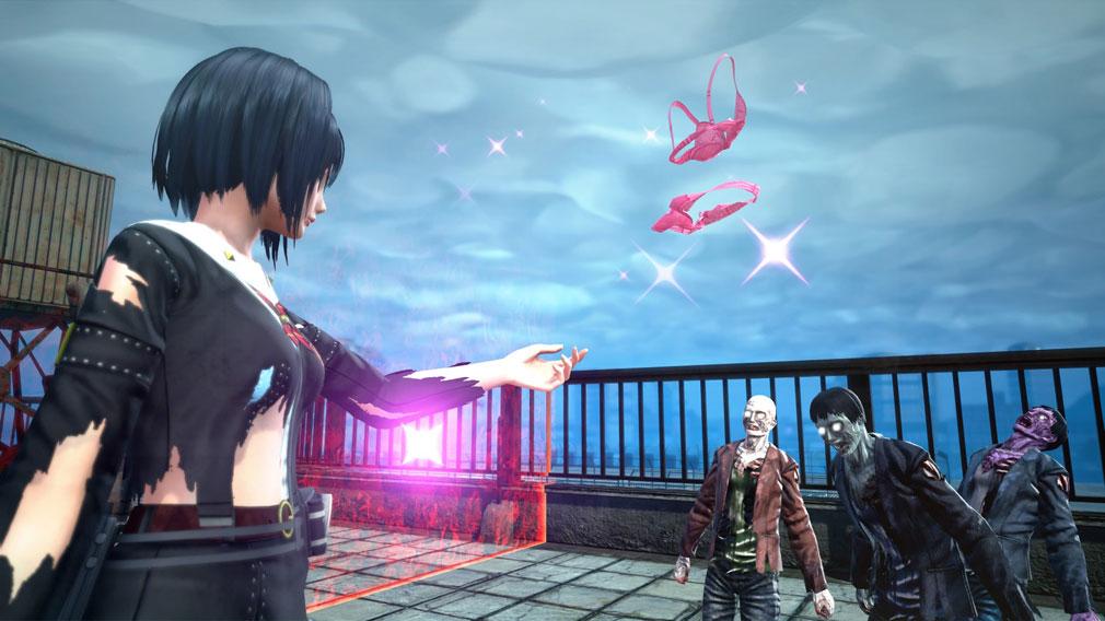 スクールガールゾンビハンター (SG/ZH School Girl/Zombie Hunter) PC バトル中に使用済の下着をデコイとして活用するスクリーンショット