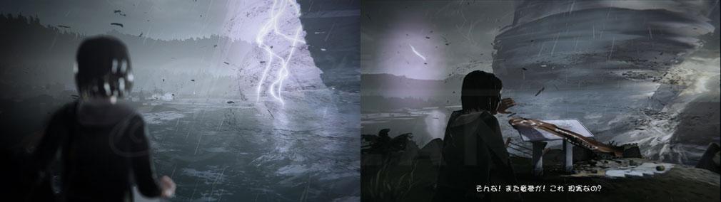 ライフ イズ ストレンジ(Life is Strange) PC アルカディア・ベイに竜巻が起こる夢を見ているマックスのスクリーンショット