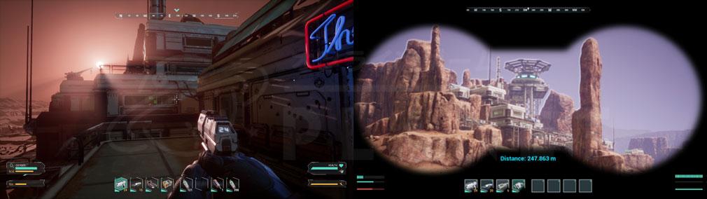 Memories of Mars(メモリースオブマーズ) PC 屋内バトル、スコープ探索スクリーンショット