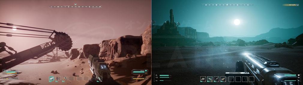 Memories of Mars(メモリースオブマーズ) PC エリアや時間で大きく変化火星の風景スクリーンショット