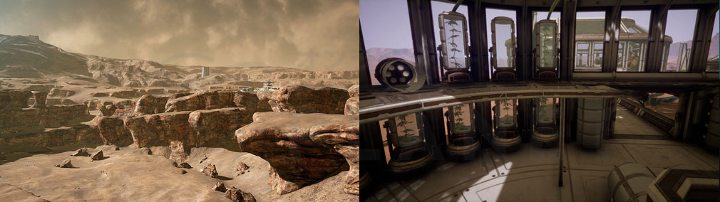 Memories of Mars(メモリースオブマーズ) PC 砂漠、屋内探索エリアスクリーンショット