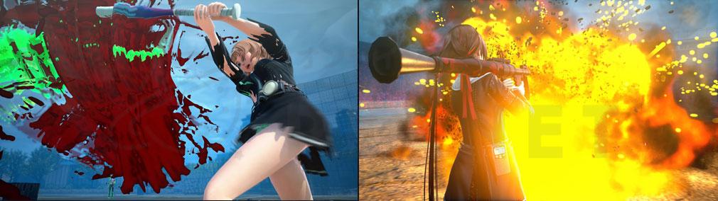 スクールガールゾンビハンター (SG/ZH School Girl/Zombie Hunter) PC 部活技、バズーカで応戦するスクリーンショット