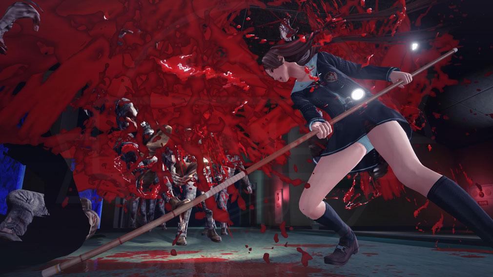 スクールガールゾンビハンター (SG/ZH School Girl/Zombie Hunter) PC 薙刀で応戦する久保田リサのスクリーンショット