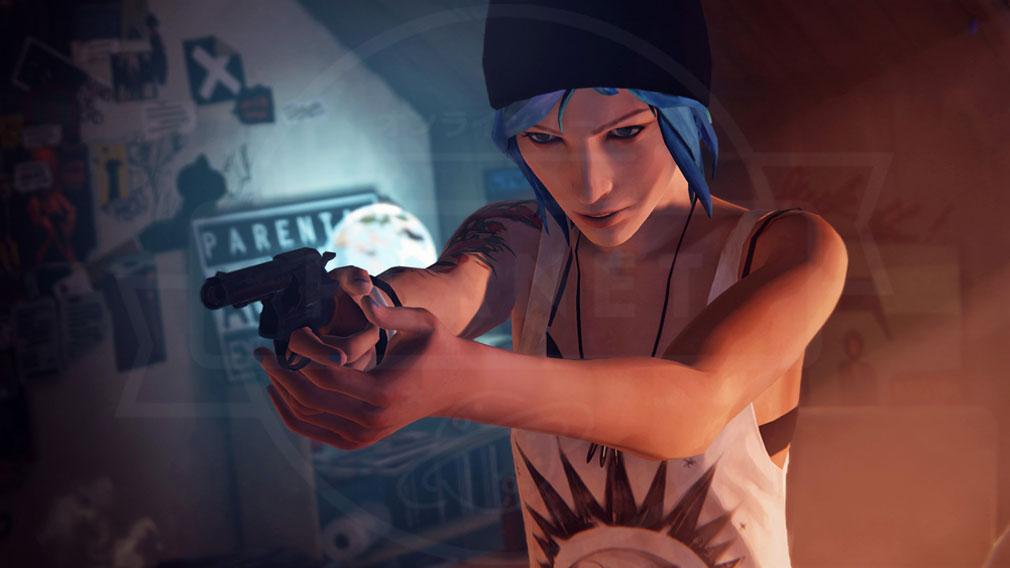ライフ イズ ストレンジ(Life is Strange) PC 銃を構える親友のクロエスクリーンショット