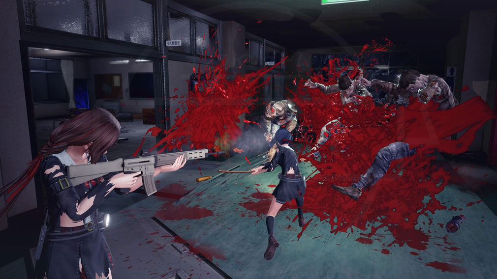 スクールガールゾンビハンター (SG/ZH School Girl/Zombie Hunter) PC 女子高生が協力して戦うバトルスクリーンショット